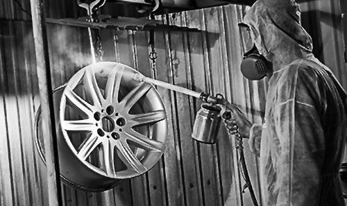 Local wheel powder coating company